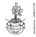 how to germinate celery. line...   Shutterstock .eps vector #1688227759