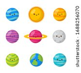 set of kawaii space icons.... | Shutterstock .eps vector #1688256070