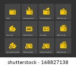 wallet icons. see also vector...
