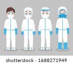 set of doctors character... | Shutterstock .eps vector #1688271949