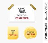 this event is postponed paper...   Shutterstock .eps vector #1688277910