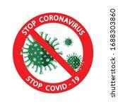 stop coronavirus 2019 ncov....   Shutterstock .eps vector #1688303860