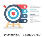 target with four elements for... | Shutterstock .eps vector #1688329780