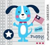 dog vector illustration | Shutterstock .eps vector #168833354