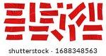 red duct repair tape set... | Shutterstock .eps vector #1688348563