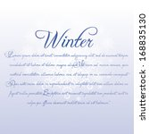 a vector white and blue winter... | Shutterstock .eps vector #168835130