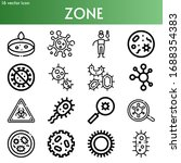 zone line icon set on theme... | Shutterstock .eps vector #1688354383