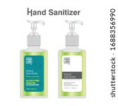 hand sanitizer label design... | Shutterstock .eps vector #1688356990