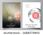 vector layout of a4 cover... | Shutterstock .eps vector #1688374843