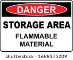 Storage Area Flammable Warning...