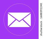 envelope sign icon in trendy...