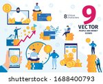 cryptocurrency miner or trader  ...   Shutterstock .eps vector #1688400793