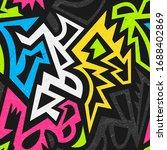 graffiti geometric seamless... | Shutterstock .eps vector #1688402869