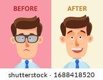 poor eyesight. surgery to sight ...   Shutterstock .eps vector #1688418520