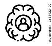 human brainstorming icon vector....   Shutterstock .eps vector #1688422420
