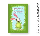 creepy easter bunny with a... | Shutterstock .eps vector #1688426053