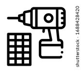 drill repair battery icon... | Shutterstock .eps vector #1688428420