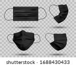black mockup protective face... | Shutterstock .eps vector #1688430433