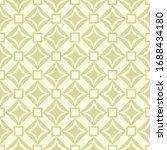 Geometric Square Print. Olive...