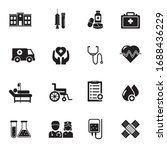 set of healthcare related icons ...   Shutterstock .eps vector #1688436229