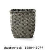Wicker Basket On White...
