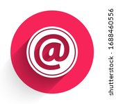 white mail and e mail icon...   Shutterstock .eps vector #1688460556