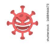 evil red virus illustration... | Shutterstock .eps vector #1688466673
