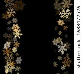 winter snowflakes border cool... | Shutterstock .eps vector #1688472526