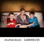 mother and her two boys... | Shutterstock . vector #168848150