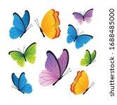 butterflies. cute butterflies... | Shutterstock .eps vector #1688485000