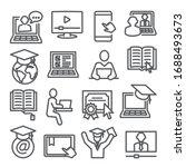online education line icons set ... | Shutterstock .eps vector #1688493673