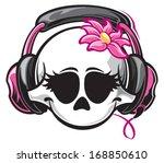 girl skull | Shutterstock .eps vector #168850610
