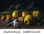 Still Life With Quince  Lemons...