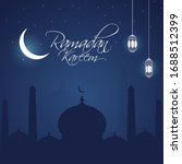 islamic holy month of ramadan... | Shutterstock .eps vector #1688512399