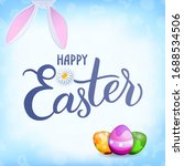 easter greeting banner with... | Shutterstock .eps vector #1688534506