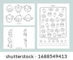 easter coloring pages printable ... | Shutterstock .eps vector #1688549413