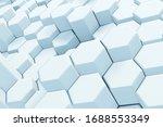 abstract white hexagonal waving ... | Shutterstock . vector #1688553349