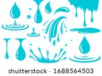 water drop  splash and spray... | Shutterstock .eps vector #1688564503