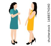 isolated  flat style girls... | Shutterstock .eps vector #1688574340
