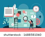 office people monitoring... | Shutterstock .eps vector #1688581060
