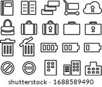 icon set for bags  notes  carts ... | Shutterstock .eps vector #1688589490