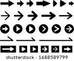 simple black arrow icon set | Shutterstock .eps vector #1688589799