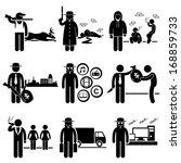 illegal activity crime jobs... | Shutterstock .eps vector #168859733