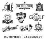 Golf Sport Club Labels  Team...