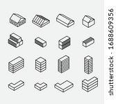Isometric Icon Building. House...