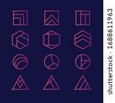 vector abstract modern logo...   Shutterstock .eps vector #1688611963
