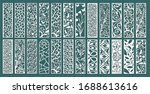 set of layouts for decorative... | Shutterstock .eps vector #1688613616