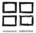 grunge frames set. vector...   Shutterstock .eps vector #1688635840