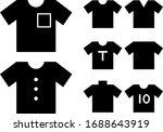 various types of short sleeve...   Shutterstock .eps vector #1688643919