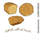 colored drawing of whole wheat... | Shutterstock .eps vector #1688648866